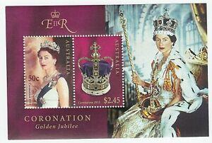 2003 AUSTRALIA STAMP MINI SHEET 'QUEEN'S CORONATION GOLDEN JUBILEE' -  MNH