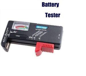 Battery Tester Battery Aa AAA C D R03 Lr6 9v Button