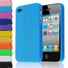 MESH PERFORATED HARD BACK CASE IMPACT PLASTIC COVER FOR IPHONE 4 4S