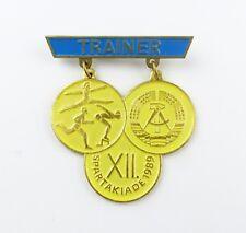 #e7949 DDR Abzeichen Trainer der XII. Spartakiade 1989