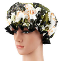 4pcs Shower Caps Waterproof Printed Bath Cap SPA Hats Bath Hats for Lady