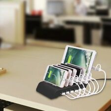 6 Multi Port USB Hub Charger Charging Dock Station Stand 60W 12A Tablet & Phone
