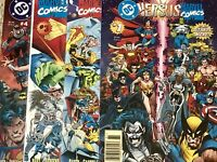 RARE NEWSSTAND SET!!! DC VERSUS MARVEL COMICS 1-4 Full Run NICE BOOKS! Avengers