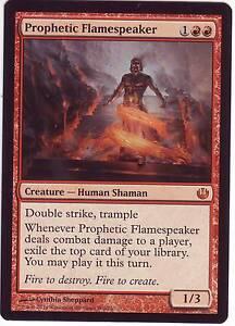 MTG Prophetic Flamespeaker Journey into Nyx Mythic Rare