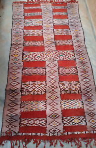Gorgeous vintage Moroccan Azrou kilim   270 x 128cm     8ft10 x 4ft2