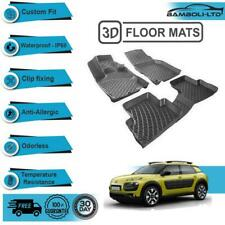 Custom Molded Interior Rubber Car Floor Mat for Citroen C4 Cactus 2015- (Black)