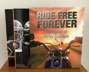 Ride Free For Ever The Legend of Harley Davidson 2 Volumes Slipcase 1998 Books