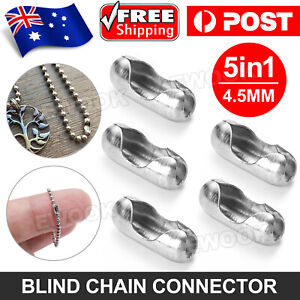 5x Roller Blind Ball Chain Cord Connector Joiner Vertical Roman Holland Part AU