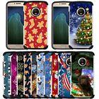 For Motorola Moto G7 Power/Supra/G6/G7 Play Case Christmas Holiday Design Cover