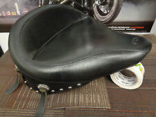 Mustang Vintage Wide Chrome Studded Solo Seat for Harley Davidson 2000-06 Softa