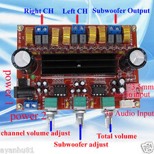TPA3116D2 50Wx2+100W 2.1 Channel Digital Subwoofer Amplifier Board 12V-24V Power