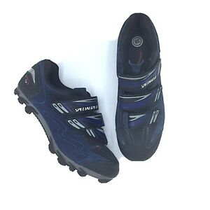 Specialized Blue And Black Sport Clip In Cycling Shoes Woman's Sz  6/38