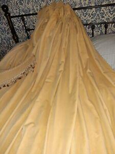 Vintage Soft  100% Cotton Velvet Curtains & Tie Backs 67x86in Drop