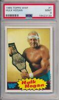 1985 Topps WWF Hulk Hogan Pro Wrestling Stars Card #1 PSA 9 Mint #3139