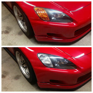 JS2k.com AP1 S2000 JDM CLEAR Headlight Diffusers Reflectors Honda + Chrome Bulb
