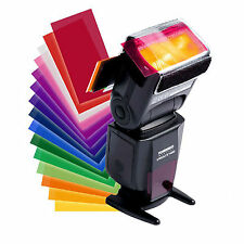 12pcs Flash Diffuser Lighting Gel Color card correct Pop up Filter for camera