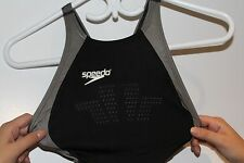 Speedo fastskin II, FS II Womens Full Body suit, Black and Grey, Size 28 US, New
