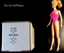 "#2275 KAISER~ 12 Doll Stands BLACK. Fit 11.5""-12"" tall dolls BARBIE, MIDGE,v KEN"