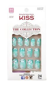 New KISS The Collection 24 Glue-On Nails Medium Length #62270 (Dried Out Glue!)