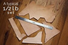 0.5 lb Leather Scraps Large size, Vegetable Tanned Leather, Tooling Remnants