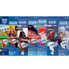 Genuine Oral-b Braun Stages Power Toothbrush Replacement Heads For Kids