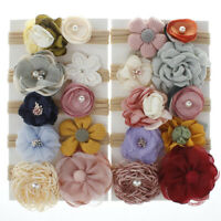 10Pcs Kids Baby Girls Toddler Flowers Hair band Clip Bow Set Accessories Hairpin