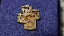 More details for rare vintage sterling silver burger king 3 star pin badge hallmarked in box