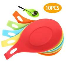10 Silicone Spoon Rest Heat Resistant Teabag Tidy Holder Cooking Utensil Dish