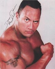 Dwayne Johnson The Rock WWE The Fate of the Furious Baywatch RARE SIGNED RP 8x10