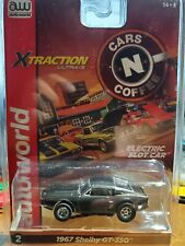 aw afx aurora rel 26 xtraction charcoal ford shelby gt 350 ho slot car