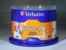 200 DVD - R PRINTABLE VERBATIM AZO 16x vergini vuoti stampabili CAMPANE DA 50