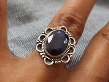 Sterlingsilber Saphir Ring Größe P 1/2 (Us 8) Silverandsoul Schmuck
