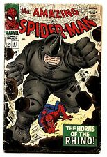 AMAZING SPIDER-MAN #41 comic book MARVEL 1966-1ST RHINO SILVER-AGE