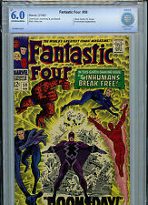 Fantastic Four #59 Silver Age Marvel Comics CBCS 6.0* Check FN 1967  Inhumans