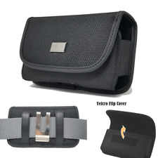 Cell Phone Sideways Pouch Tactical Holster Metal Belt Clip Rugged Case (4 sizes)