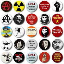 """ANARCHY & PUNK   - 1"""" / 25mm Button Badge - Protest Revolution"""