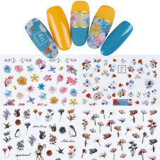 12pcs Flower 3D Nail Stickers Butterfly Daisy Nail Art Adhesive Transfer Sticker