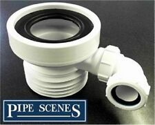 Pan Outlet Connector with Basin Waste Pipe Inlet 110mm Plastic Soil
