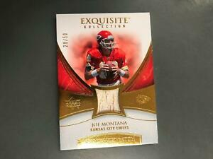 Joe Montana 2007 Exquisite Game Used Patch Relic #28/50 Kansas City Chiefs T22