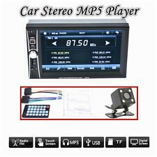 """2-DIN 6.6"""" Bluetooth Car MP5&MP3 Player Touch Screen Stereo Radio USB+Camera-NEW"""
