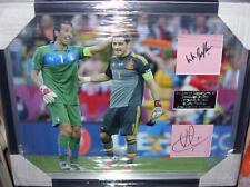 Iker Casillas y Gianluigi Buffon Firmado Pantalla Aftal