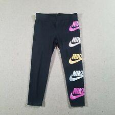 New listing NIKE Running Leggings BLACK Toddler Girls 4 Xs TP ECH EP 3-4 YRS 98-104cm