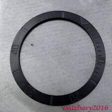 fit automatic movement Men's Watch bezel 38Mm Black Bezel insert Watch kit