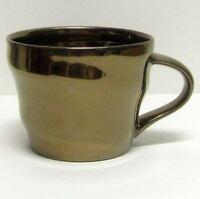 STARBUCKS COFFEE COMPANY ORIGINAL 2013 METALLIC GOLD 12 Oz COFFEE CUP/MUG