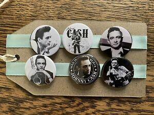 Johnny Cash - Pin Badge Set