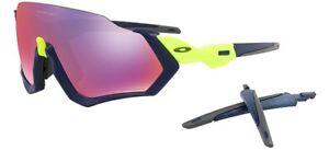 Oakley 9401 05 Flight Jacket Matte Navy Mesh Burn Prizm Road Sunglasses