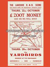 "Zoot Money / Yardbirds Hendon 16"" x 12"" Photo Repro Concert Poster"