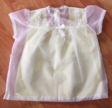 Vintage Baby Infant Girls Dress Sheer Lace Sz 12M