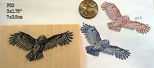 Owl flying rubber stamp WM P53