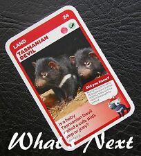 Woolworths AUSSIE ANIMALS  Series 2 Baby Wildlife CARD 24/36 Tasmanian Devil